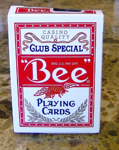 BEE Club Special Casino Red Playing Cards New Sealed Deck