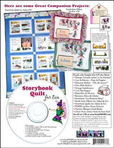 ScrapSMART - Storybook Quilt for Eve - Software Collection - Jpeg, PDF, and Microsoft Word files (CDSQE53)