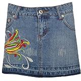 Miss Posh Womens Frayed Light Denim Jean Mini Skirt