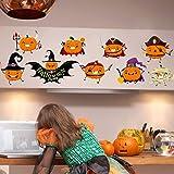Halloween Wall Decal Sticker Cute Pumpkin Art Décor Home Removable Mural Decals Room Decor (17.7 X 23.6'', Multicolor)
