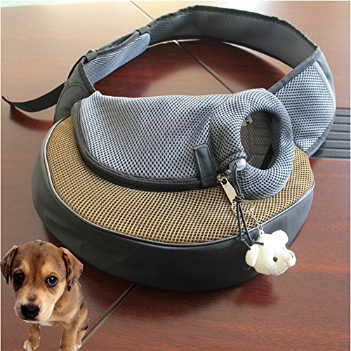 Khaki Portable Pet Dog Cat Puppy Safety Carrier Case Comfort Car Travel Tote Shoulder Bag Backpack House Soft Sided Purse Handbag Crate Cage Kennel Pouch front-108325