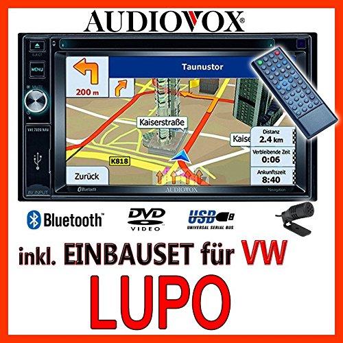VW Lupo - Audiovox VXE7020 - Autoradio Navigationsradio EU Navi DVD TFT Bluetooth - Einbauset