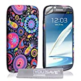 "Samsung Galaxy Note 2 Tasche Galaxy Note 2 Mehrfarbig Silikon Qualle H�llevon ""Yousave Accessories�"""