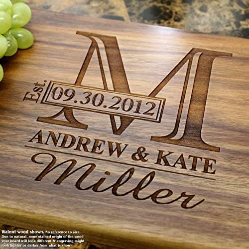 Amazon Com Monogram Personalized Engraved Cutting Board