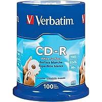100-Pack Verbatim 94712 52X Inkjet Printable CD-R CD Disc Spindle