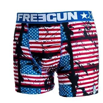 Freegun - USA - Sous-vêtement homme -Freegun boxer homme best of serie modele FLAG (S)