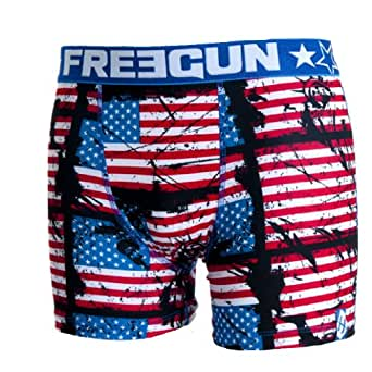 Freegun - USA - Sous-vêtement homme -Freegun boxer homme best of serie modele FLAG (S)