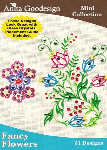 Anita Goodesign Embroidery Designs Cd Fancy Flowers back-409610