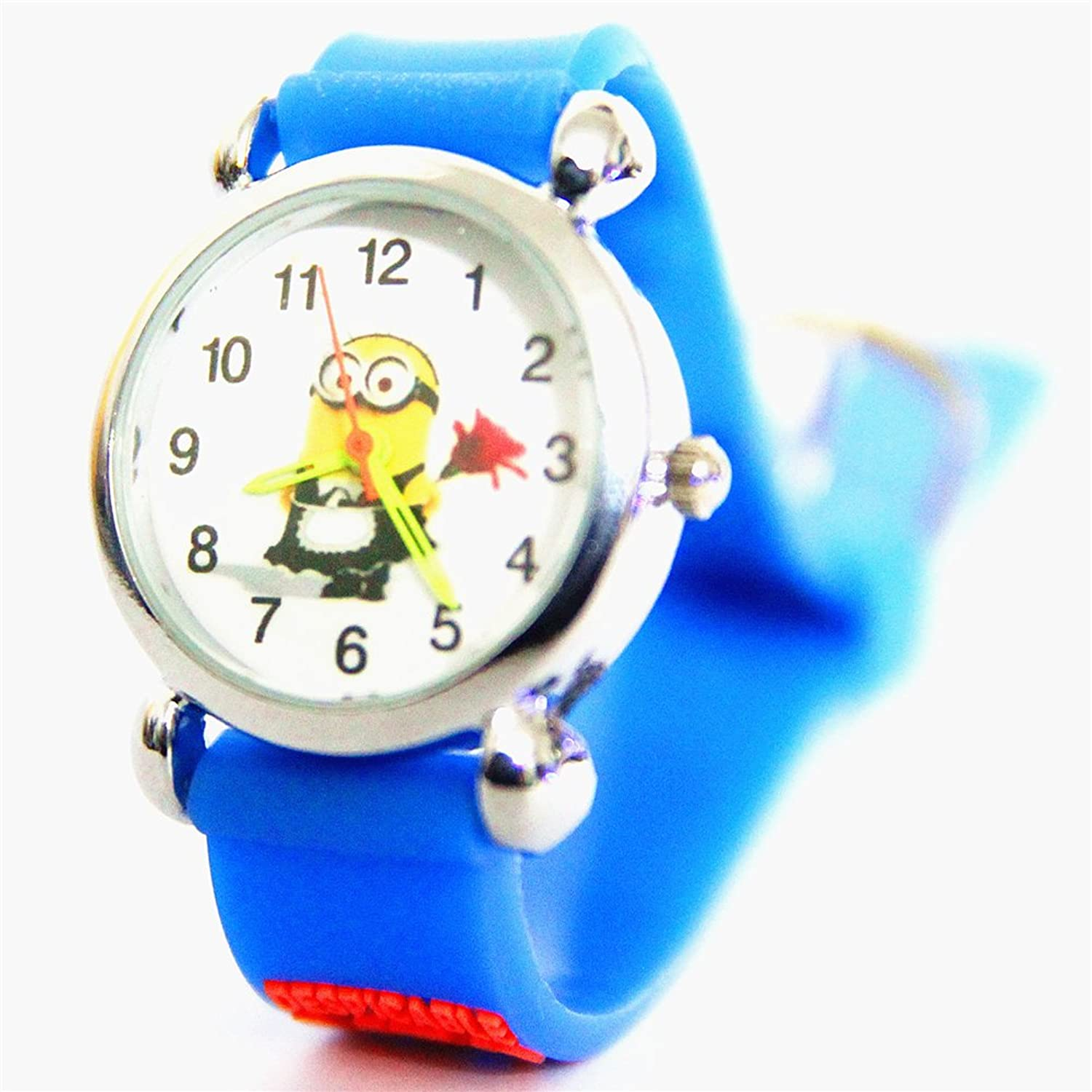 3d Cartoon Despicable Me 2 Children Boys Kids Waterproof Quartz Wrist Watch Christmas Gift Box primary children cartoon mickey school bags 2016 kids cartoon backpack waterproof schoolbags satchel for boys and girls