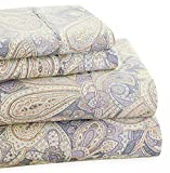Trade Linker Park Avenue 4-Piece 350 Thread Count Cotton Rich Printed Sheet Set, King, Paisley