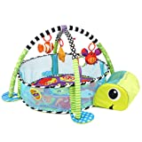 Orient Home Design Baby Cartoon Toys Grow with Me Activity Gym Play Mat and Ball Pit Infant Floor Blanket Educational Gym Mats Kids Rug Activity Climbing Carpet Tuetle (Color: Tuetle)