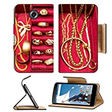 buy Msd Premium Motorola Google Nexus 6 Flip Pu Leather Wallet Case Image Id 43518290 Golden Rings Necklace Bracelet And Other Gold Pieces Of Jewelry Set Inside Red Jewelry Box Top View