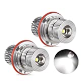 VANJING 2PCS 10W LED Angel Eyes Halo Ring Marker Light Bulb for BMW 5 6 7 Series X3 X 5 (Fit E39 E53 E60 E63 E64 E65 E66 E83) (10W, White) (Color: White, Tamaño: 10W)
