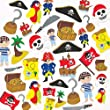 Pirate Foam Stickers (Pack of 96)