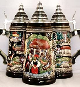 Zoeller & Born Panorama Black Forest German Beer Stein 0.75 Liter from Zoller & Born