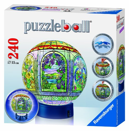 Cheap Fun Ravensburger Stained Glass – 240 Pieces Puzzleball with Light Stand (B004IDDMHS)