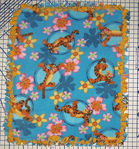 Disney Blanket Tigger Hand Tied Fleece Baby Pet Lap Blue