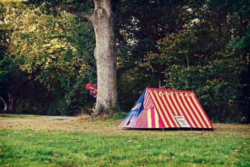 design camping zelt motiv zirkuszelt original von. Black Bedroom Furniture Sets. Home Design Ideas
