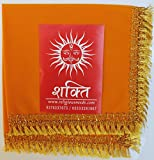SHAKTI Velvet Aasan Saffron (Pack of 4)