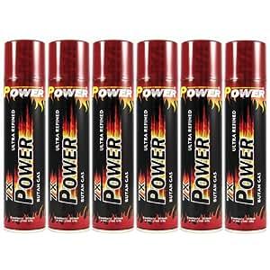 Power 7x Premium Quality Butane Gas - 6 Cans