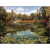 Autumn Pond by Setsuo Hamanaka - Kitchen Backsplash / Bathroom wall Tile Mural