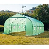 Z ZTDM 20'×10'×7' Large Green House Outdoor Walk in Greenhouses Tents Plants Gardening Nursery Grow Protective Shed (Greenhouses)