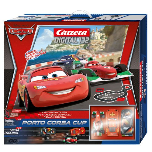 Carrera Digital 132 #30159 Disney Pixar Cars Porto Corsa Cup 1:32 Scale Slot Car Set