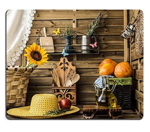 Luxlady Mousepad Olio d' oliva zucche e mele in un ambiente rustico cucina con molla immagine 37107972personalizzato Art desktop laptop gaming mouse pad