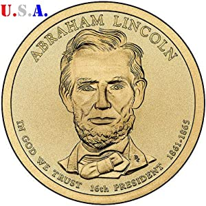 The Abraham Lincoln Presidential Golden Dollar Uncirculated Coin 2010 P Mint