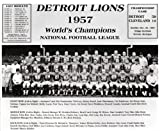 1957 Detroit Lions World Champions Team 8x10 Photo Mint Condition Bobby Layne & Hopalong Cassady