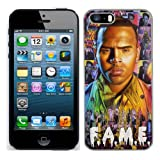 Chris Brown case fits iphone 5S cover hard protective (3) for apple i phone 5 s