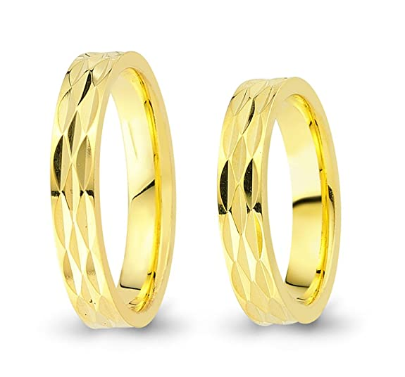 2 Wedding Rings Engagement Rings 585 Gold Bicolour CC4845850