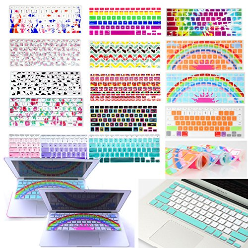 HRH Silicone Keyboard Cover Keyboard Skin Protector for All MacBook Air 13