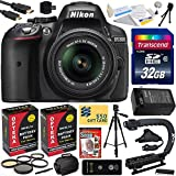 Nikon D5300 24.2 MP CMOS Digital SLR Camera with 18-55mm f 3.5-5.6G ED VR II AF-S DX NIKKOR Zoom Lens (Black) (1522) with Must Have Accessory Bundle Kit includes 32GB SD Memory Card + SD Card Reader + 60