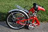 Columba 20&#8243; Alloy Folding Bike w. Shimano 7 Speed Red (R20A_Red)