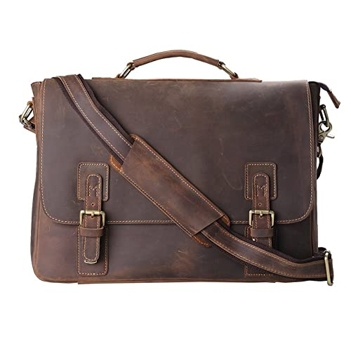 Kattee Leather Satchel Briefcase, 16