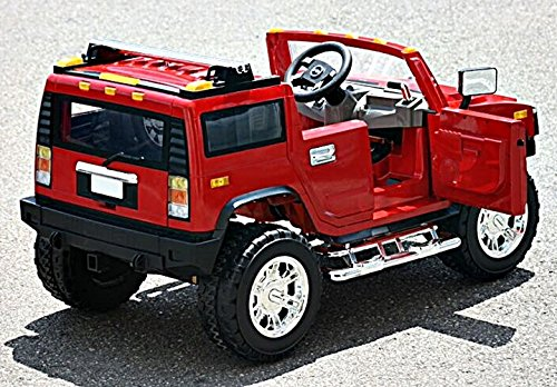 electric battery operated ride on car for kids hummer h2 model 1206 red little kid cars