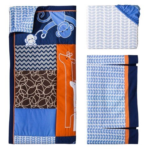 Lambs & Ivy Soho Jungle 3pc Baby Boy Bedding Set - 1