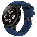 Sunshinehomely For HUAMI Amazfit Stratos Smart Watch 2 Replacement Adjustable Soft Silicagel Watch Band Sports Strap (Navy) (Color: Navy, Tamaño: 38)
