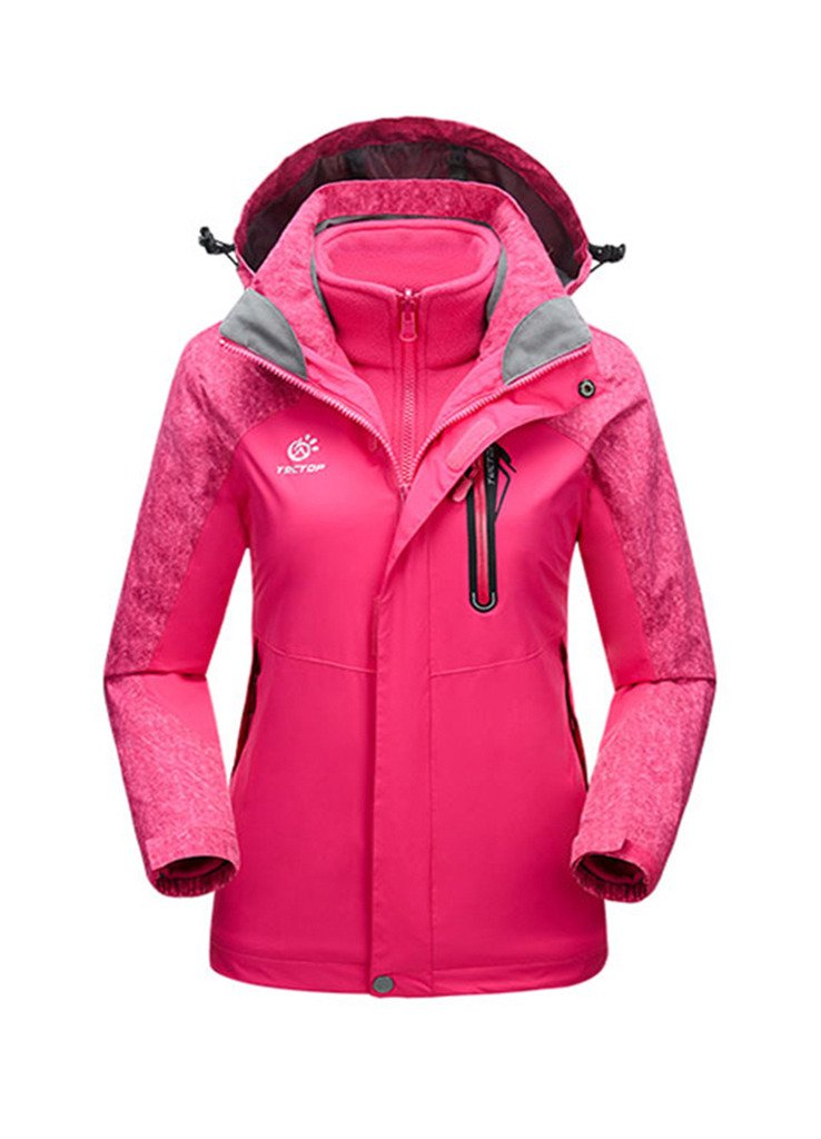 OUO 2015 Damen Winter Hebst 3-in-1 Jacke Winterbekleidung Wetterschutzjacke Kälteschutz Reißverschluss Sport Kaputze günstig online kaufen