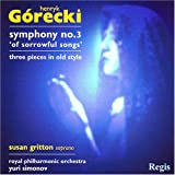 echange, troc Gorecki, Gritton, Royal Philharmonic, Simonov - Symphony No 3 : Three Pieces in Olden Style