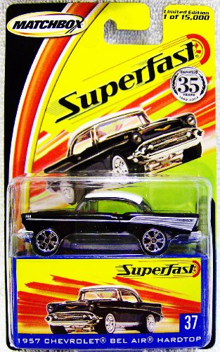 Matchbox Superfast 35th Anniversary Limited Edition 1957 Chevrolet Bel Air Hardtop #37 with Collectors Box - 1