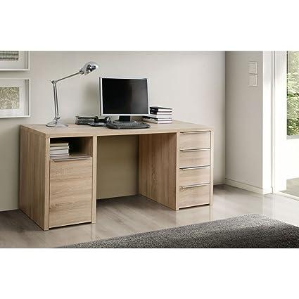 Schreibtisch Computertisch Burotisch Arbeitszimmer Calpe Eiche Sonoma Spanplatte