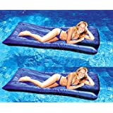 2 Swimline 9057 Swimming Pool Inflatable Fabric Covered Air Mattresses Oversized