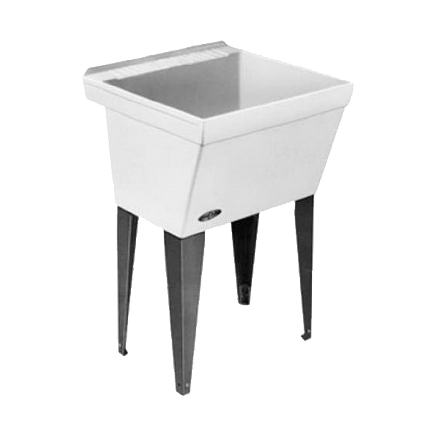 Plastic Utility Sink With Drainboard : Plastic Utility Sink with Legs