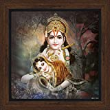 Lord Krishna / Shri Krishna With Radha / Symbol Of Divine Love / Modern Art Print Poster With Frame (Size: 12x12...