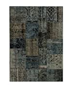 Design Community By Loomier Alfombra Anatolian Patchwork Gris/Azul 170 x 240 cm