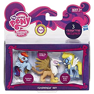 My Little Pony, Friendship is Magic, Cloudsdale Set (Rainbow Dash, Gilda the Griffon, and Wonder Bolts Pony), 3-Pack