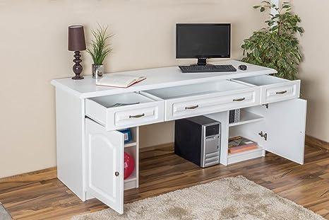 Schreibtisch weiß Holz