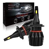 LED Headlight Bulbs,AutoFeel H7 Super Bright Car Bulbs Fanless 4000LM IP65 6500K White Light High/Low Beams Waterproof Fog Lights All-in-One Conversion Kit -1 Year Warranty (Tamaño: H7)